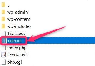 「.user.ini」をサーバーにアップロード