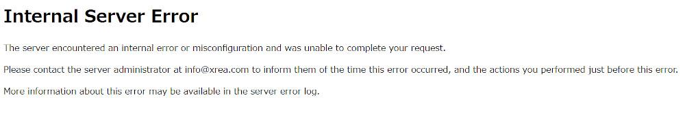 Wordpressで500 Internal Server Error